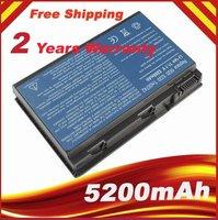 6 CELL 5200mAh GRAPE32 TM00741 TM00751 Laptop battery for ACER Extensa 5220 TravelMate 5520+24 Months Warranty