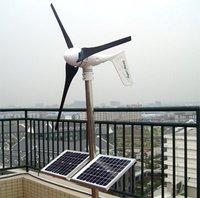 1000W solar wind hybrid power system ,2*400W wind turbine+200W solar pannel+charge controller+1000/2000W pure sine wave inverter