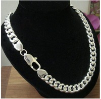 Free shipping 10mm*26'' Wholesale surprising   men's 925 sterling silver snake chain necklace
