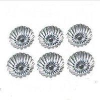 Chrysanthemum flower lamp Aluminum foil Egg tart mold Reusable use.