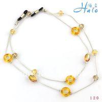 Free Shipping 10pcs/lot Fashion Handamde Beaded Crystal Metal Acrylic Glasses Chain Accessories GL001
