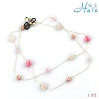 Eyeglasses Chain!GL003!10PCS/Lot!Free Shipping!Handamde Beaded Crystal Metal Acrylic Chain Ball Fashion Eyeglasses Jewelry