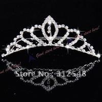 Free shipping New Fashion Princess Crystal Austrian Rhinestone Tiara Small Hair Comb Crown Drop shipping
