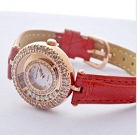 Royal Crown Watch  Fashion Ladies Fashionable gifts Jewellery  leather band watch diamond dress watch for women watches