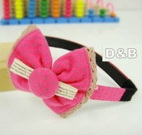 Free shipping! 2012 New Designer Cotton Bows Baby Headband/Women Hair Bands/Kids Hairband Hair Styling/Hair Accessories 80242