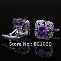 Crystals cuff links