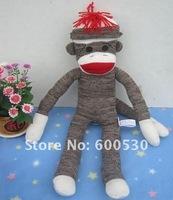 Original single schylling SOCK MONKEY DOLL mouth monkey toy 52cm dolls  free shipping