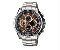 New Waterproof   EF-506-5AV Chronograph men's watches stainless steel watch wristwatch