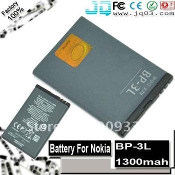 Best Replacement 1300mah OEM BP-3L 3L Battery For Nokia Lumia 710 710 701  Asha 303 603 ( free shipment )