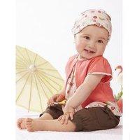 Free shipping new design baby girls cute t-shirt+short pants+headband 3pcs sets lovely design girls sets baby suits 5sets/lot