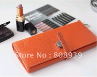 Simple fashion ladies genuine wallet 10 pcs/lot free shipping guaranteed quality