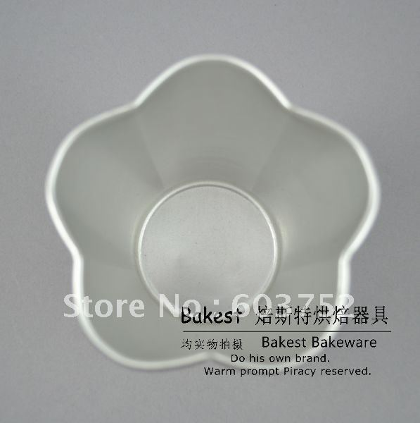 Wholesale new 3d blossom aluminum alloy shaped cake decorations supply