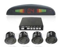 5 x LED Display 4 Sensors System 12v LED Display Indicator Parking Car Reverse Radar /black