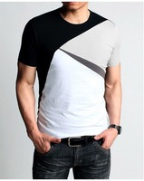 2014 New shirts, t shirt men brand,cotton clothing,slim stype,High elasticity,tshirt,Mixed colors,free shiping