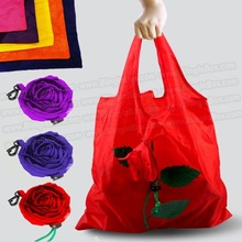 Rose flower bag 10pcs/lot shopping foldable bag many colors mixed available rose bag handle Bag+free shipping(China (Mainland))