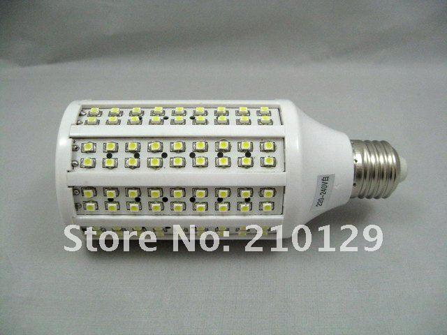 Wholse!5pcs/lot Free shipping!SMD3528 216PCS E27 9W Degree 360 white/warm white led corn light 200-240V 1 year warranty(China (Mainland))