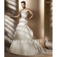 Dream Beautiful Luxury A Line Chapel Train Tulle Lace Beaded Bateau Long Sleeve Zuhair Murad Wedding Dresses Gowns 2013