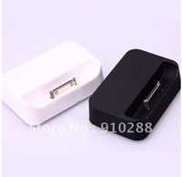Free DHL Shipping Black and white Dock Cradle Charger Station for Apple IPHONE 4 4G