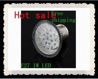 E27 1W LED Spot Light Bulb Lamp Spotlight 220-240V Warm White +Dropshipping