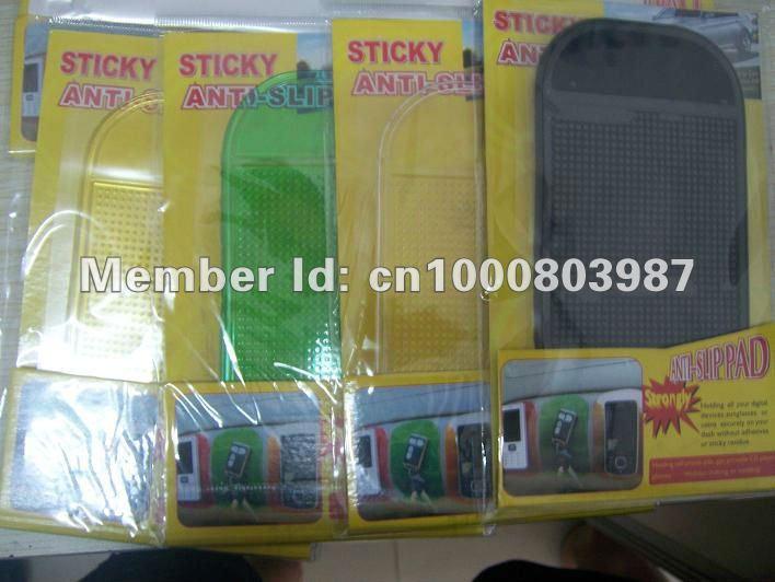 retail package car dashboard pad anti slip pad Non Slip Anti Slip Mat Sticky Pad For mp3 mp4 free shipping(China (Mainland))