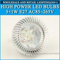 High power led Bulb Lamp Spotlight 3W E27 AC85-265V Cold white/warm white Free Shipping / DHL