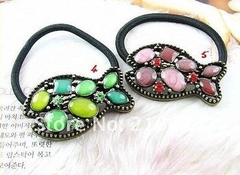 Beautiful fashion diamond-edged fish hair band Retro ancient hairware HOTSAL rhinstone hair jewelry  10pcs/lot E6041