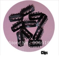 900PCS 24mm Clips/snap for human Hair extensions/wig/weft hair Black colour
