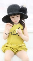 5pcs/lot Hot Selling 2012 New Pink Ideal Fashion Sleeveless Zipper Girls One-piece Pants/Children Overalls/ Girls Clothes Yellow