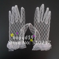 200pair short style hollow pattern bridesmaid bride gloves lace wedding banquet gloves five-finger