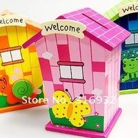 N4 Free shipping, The Lovely Snail House Saving Cans/Saving Bank, 3pcs/lot