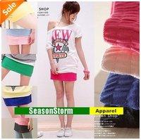 [CPAP Free Shipping] Wholesale Womens  Cotton Mini Skirt / Multi-Color Short Dresses 10 Color 50pcs/lot (SU-09P)
