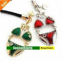 Fashion Rhinestone Sexy Bikini Phone Chain / Key Ring (SC-11)