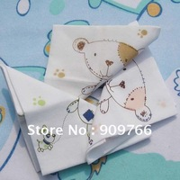Baby Cotton Handkerchief Square Children&#39;s Handkerchief Kindergarden Printed Handkerchief 4pcs Bag Different Colors 40set HK201