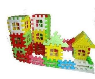 Retail 40pcs/set  Infant Colorful Plastic House Building Blocks Toys (KH-08)