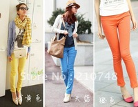 2012, color pencil pants Leggings was thin elastic feet pencil pants 107 # women's fashion