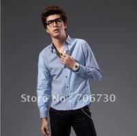(5PCS/LOT) Free Shipping,2012 Newest Hot,Wholesale fashion Changing hit stripe long-shirt,Men's LeisureSize(S-XXL) 2Colors SA104
