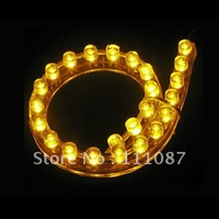 20X 48cm PVC Flexible Car LED strip light Waterproof 48 LED lamp car decoration Led light  -Amber /Pink/White/Blue/Green/Red