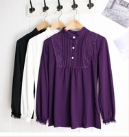 Free shipping,2012,Long sleeve, pregnant women to install, the big yards,pregnant women coat shirt,render unlined upper garment.