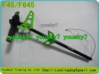 tail set for MJX F645,F45 Parts, mjx f-645 f-45 Remote Control Helicopter Parts,Tail Pipe,Green, Free shipping