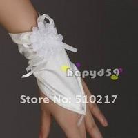 40pair hook finger lace banquet gloves Flower Satin bridesmaid bride gloves fingerless wedding  free ship