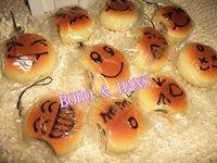 New Cute cartoon Face bread squishy charm (bite) / mobile phone strap Pendant / Wholesale