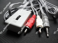 3.5mm to 2 RCA AV Adapter Cable with Volume Adjust
