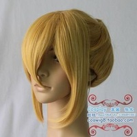Free shipping 12inches the new fashion cheap gold cosplay wigs wholesalers