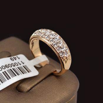 Классические 18K Роуз Позолоченные Стразы Шипованная кольца палец (Umode JR0084A)