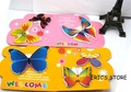 2012new animall style cute kawaii 6kinds butterfly image memo pad, many color  creative gift freeshipping wholesale retail