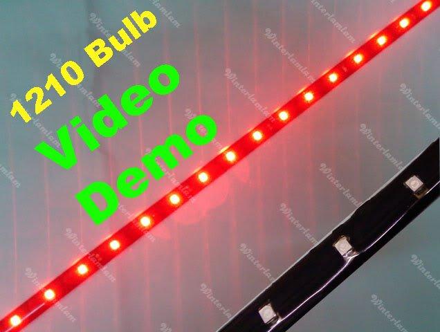 """1 pcs 1210 Red 120 cm 48 """" LED sob flexível Neon Light Strip fit para carro motor bike(China (Mainland))"""