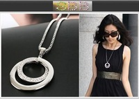 Fashion  circular sweater chain necklace.Wholesale! Free Shipping !