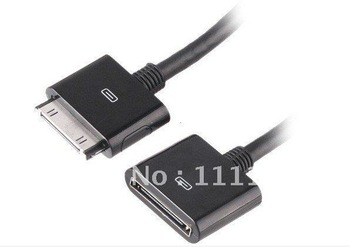 Free Shipping !30 PIN Dock Cradle Extender AV Extension Cable For iPad iPod iPhone