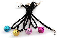 Free shipping! Mix color order!Wholesale 50PCS/LOT pet bell with string for small dogs,dog bell collar,cat bell collar