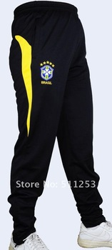 Sell Hot! Brazil New Style  Tapered Leg Black  Professional Training Soccer Pants
